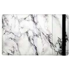White Marble Stone Print Apple Ipad 2 Flip Case