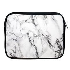 White Marble Stone Print Apple iPad 2/3/4 Zipper Cases