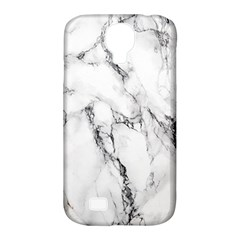 White Marble Stone Print Samsung Galaxy S4 Classic Hardshell Case (PC+Silicone)