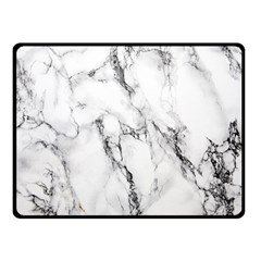 White Marble Stone Print Double Sided Fleece Blanket (Small)