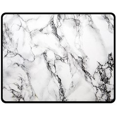 White Marble Stone Print Double Sided Fleece Blanket (Medium)