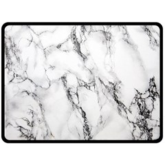 White Marble Stone Print Double Sided Fleece Blanket (large)