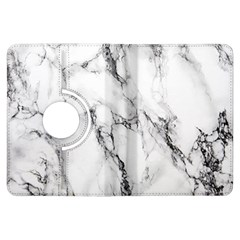 White Marble Stone Print Kindle Fire HDX Flip 360 Case