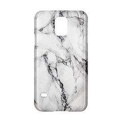 White Marble Stone Print Samsung Galaxy S5 Hardshell Case
