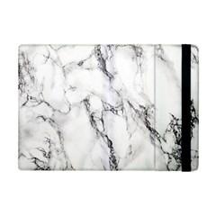 White Marble Stone Print Ipad Mini 2 Flip Cases