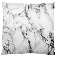 White Marble Stone Print Large Flano Cushion Cases (Two Sides)