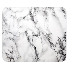 White Marble Stone Print Double Sided Flano Blanket (small)
