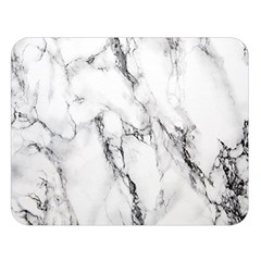 White Marble Stone Print Double Sided Flano Blanket (Large)