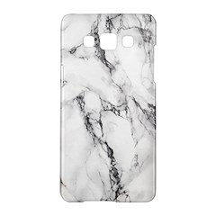 White Marble Stone Print Samsung Galaxy A5 Hardshell Case