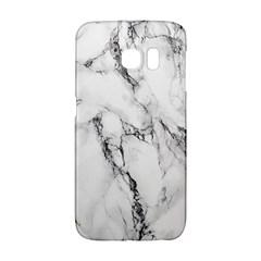 White Marble Stone Print Galaxy S6 Edge