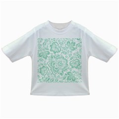 Mint green And White Baroque Floral Pattern Infant/Toddler T-Shirts