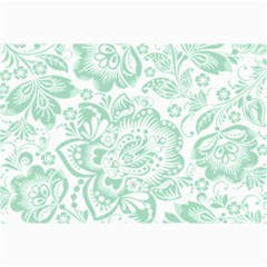 Mint Green And White Baroque Floral Pattern Collage 12  X 18