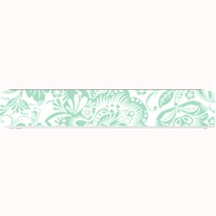Mint green And White Baroque Floral Pattern Small Bar Mats