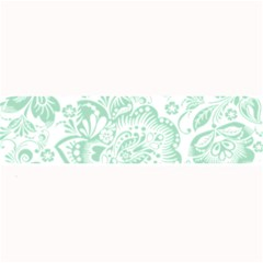 Mint Green And White Baroque Floral Pattern Large Bar Mats