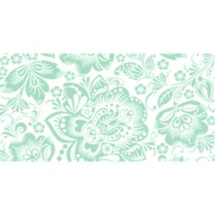 Mint green And White Baroque Floral Pattern YOU ARE INVITED 3D Greeting Card (8x4)