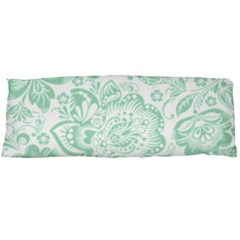 Mint Green And White Baroque Floral Pattern Body Pillow Cases Dakimakura (two Sides)