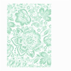 Mint Green And White Baroque Floral Pattern Small Garden Flag (two Sides)