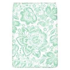 Mint green And White Baroque Floral Pattern Flap Covers (L)