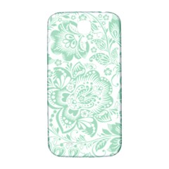 Mint green And White Baroque Floral Pattern Samsung Galaxy S4 I9500/I9505  Hardshell Back Case