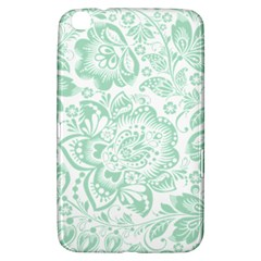 Mint green And White Baroque Floral Pattern Samsung Galaxy Tab 3 (8 ) T3100 Hardshell Case