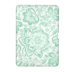 Mint Green And White Baroque Floral Pattern Samsung Galaxy Tab 2 (10 1 ) P5100 Hardshell Case
