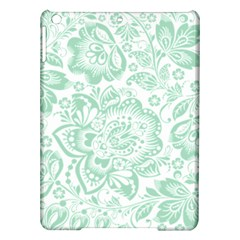 Mint green And White Baroque Floral Pattern iPad Air Hardshell Cases