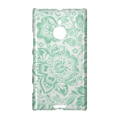 Mint green And White Baroque Floral Pattern Nokia Lumia 1520
