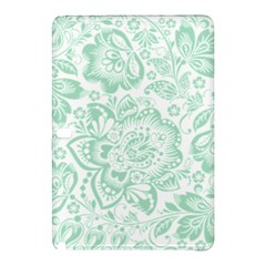 Mint green And White Baroque Floral Pattern Samsung Galaxy Tab Pro 10.1 Hardshell Case