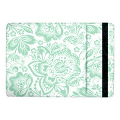 Mint Green And White Baroque Floral Pattern Samsung Galaxy Tab Pro 10 1  Flip Case
