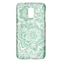 Mint Green And White Baroque Floral Pattern Galaxy S5 Mini
