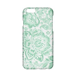 Mint green And White Baroque Floral Pattern Apple iPhone 6/6S Hardshell Case
