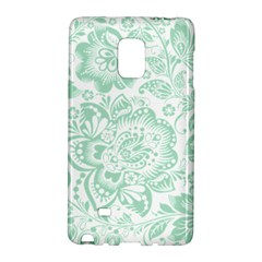 Mint Green And White Baroque Floral Pattern Galaxy Note Edge
