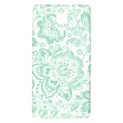 Mint green And White Baroque Floral Pattern Galaxy Note 4 Back Case