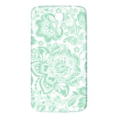 Mint Green And White Baroque Floral Pattern Samsung Galaxy Mega I9200 Hardshell Back Case