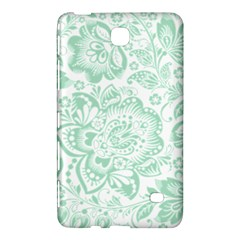 Mint green And White Baroque Floral Pattern Samsung Galaxy Tab 4 (8 ) Hardshell Case