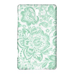Mint green And White Baroque Floral Pattern Samsung Galaxy Tab S (8.4 ) Hardshell Case