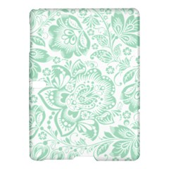 Mint green And White Baroque Floral Pattern Samsung Galaxy Tab S (10.5 ) Hardshell Case