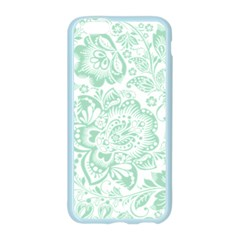 Mint green And White Baroque Floral Pattern Apple Seamless iPhone 6/6S Case (Color)