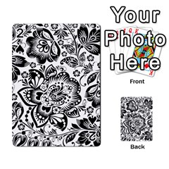 Black Floral Damasks Pattern Baroque Style Playing Cards 54 Designs