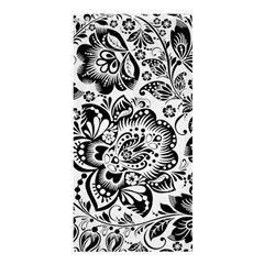 Black Floral Damasks Pattern Baroque Style Shower Curtain 36  x 72  (Stall)