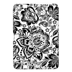 Black Floral Damasks Pattern Baroque Style Kindle Fire HD 8.9