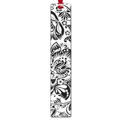 Black Floral Damasks Pattern Baroque Style Large Book Marks