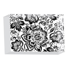 Black Floral Damasks Pattern Baroque Style 4 x 6  Acrylic Photo Blocks