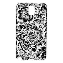 Black Floral Damasks Pattern Baroque Style Samsung Galaxy Note 3 N9005 Hardshell Case