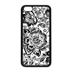 Black Floral Damasks Pattern Baroque Style Apple iPhone 5C Seamless Case (Black)