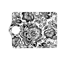 Black Floral Damasks Pattern Baroque Style Kindle Fire Hd (2013) Flip 360 Case