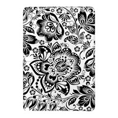Black Floral Damasks Pattern Baroque Style Samsung Galaxy Tab Pro 12.2 Hardshell Case