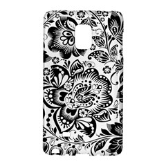 Black Floral Damasks Pattern Baroque Style Galaxy Note Edge
