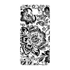 Black Floral Damasks Pattern Baroque Style Samsung Galaxy Alpha Hardshell Back Case