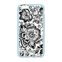 Black Floral Damasks Pattern Baroque Style Apple Seamless iPhone 6/6S Case (Color)